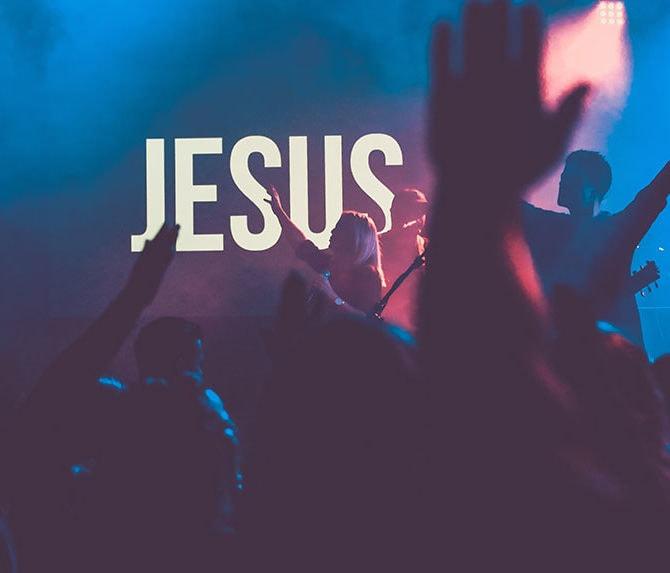 Youth celebrating Jesus